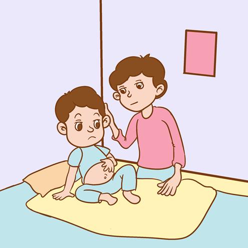 宝宝肚子胀气呕吐怎么办?这样做效果很不错